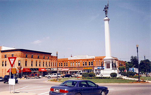 Angola, Indiana, a quite town that looked as though Andy Griffith modeled Mayberry after it.