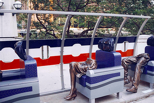 One of the most eerie public art pieces that would foreshadow something that would change the course if American history. July 10, 2001.