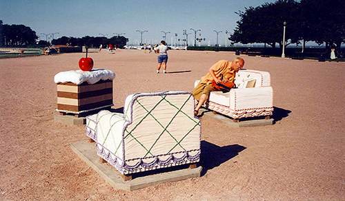 Cake Chairs by Buckingham Fountain. July 10, 2001.