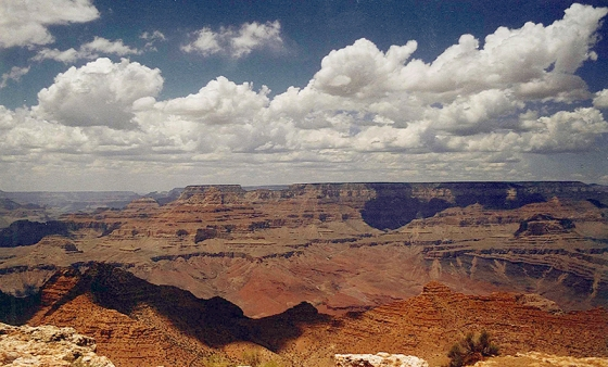 The Grand Canyon from the South Rim. July 19, 2001.