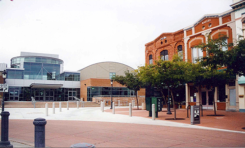 The John Steinbeck Center in Salinas, California. It wasn't officially open yet, so www never got to go in. July 23, 2001.