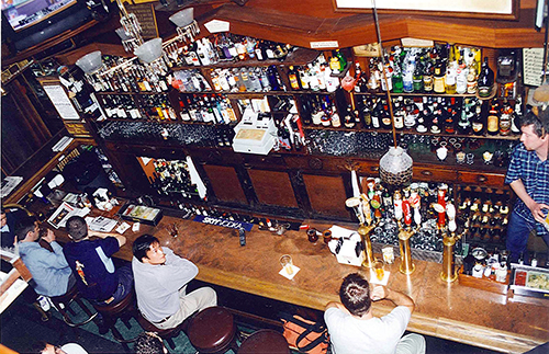 Vesuvio's, where the Beats drank at night... and day... and where Kyle and imbibed a little too much. July 24, 2001.
